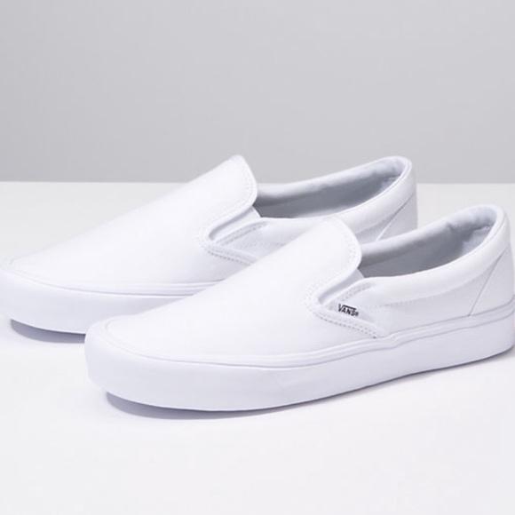 2bef580703 Vans classic white slip on sneakers. M 5c5df8c4aa87700f93bb9661